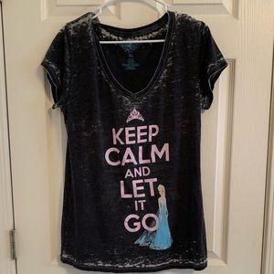 frozen v neck T-shirt